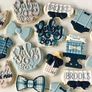 Classic Baby Boy Baby Cookies | Simply Renee Sweets