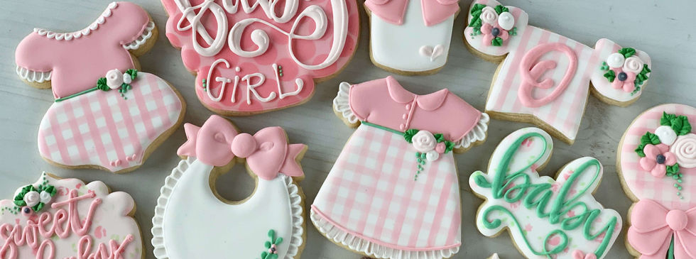 Classic Baby Girl Cookies | CLASSIC SIZE