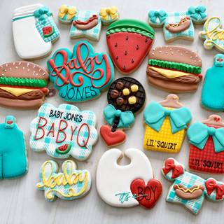 BBQ Baby Boy Cookies | Simply Renee Sweets