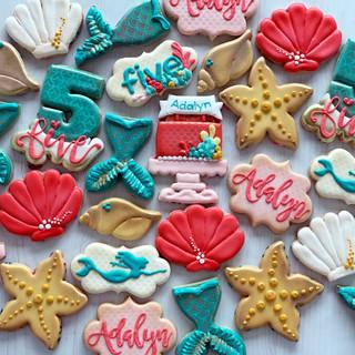 Mermaid Birthday Cookies | Simply Renee Sweets