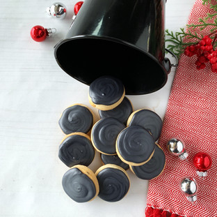 Christmas 2018 Decorated Cookies Bucket of Coal