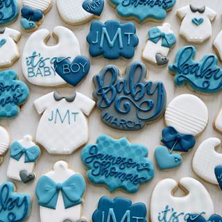 Blue Boy Baby Cookies | Simply Renee Sweets