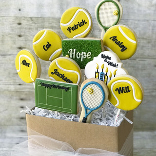 Tennis Birthday Cookies | Simply Renee Sweets