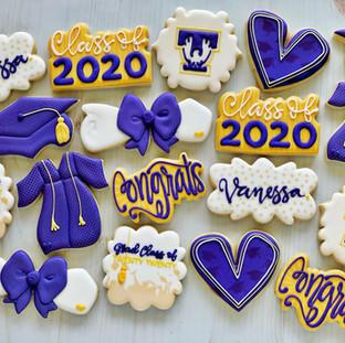 Purple Graduation Cookies