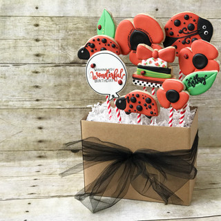 Ladybug Cookie Bouquet | Simply Renee Sweets