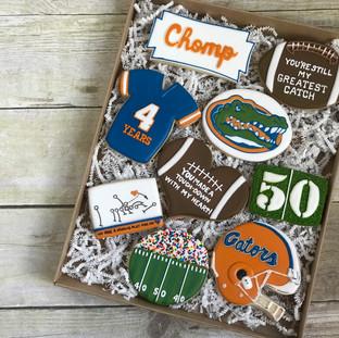 Florida Gators 50th Birthday Cookies | Simply Renee Sweets