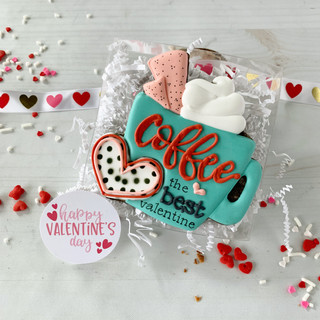Coffee...the Best Valentine Decorated Cookies