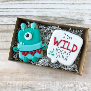 I'm wild about you Decorated Cookies