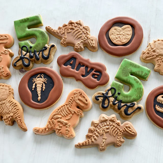 Dino Dig Birthday Cookies   Simply Renee Sweets