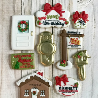 Christmas Burnett Real Estate Group Cookies
