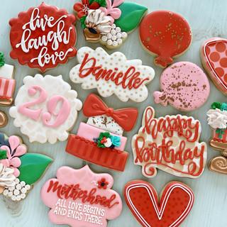 29th Birthday Pink & Red Birthday Cookies | Simply Renee Sweets