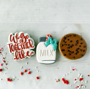 We Go Together Like Milk & Cookies Decorated Cookies