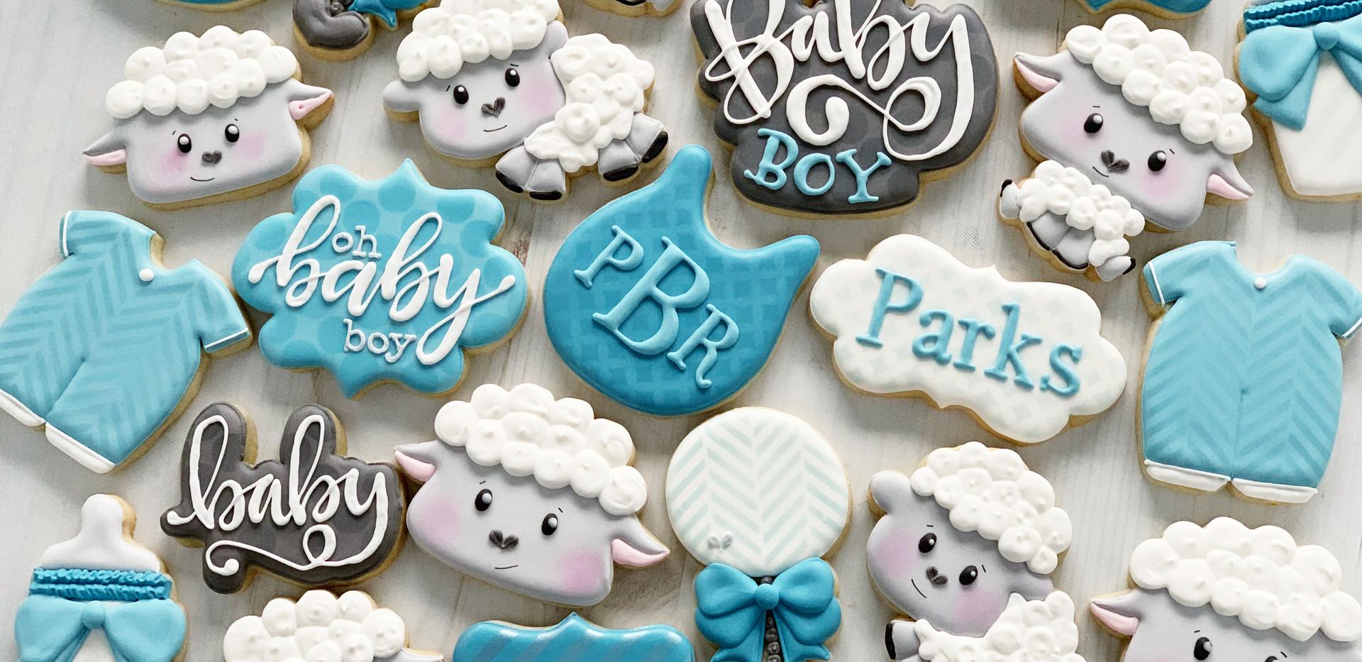 Little Lamb Baby Cookies _ Simply Renee