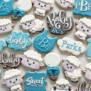 Little Lamb Baby Cookies | Simply Renee Sweets