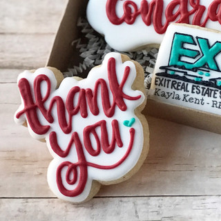 Realtor Thank You Add-on cookie Decorated Cookies