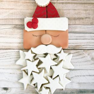 Christmas 2017 Decorated Cookies Santa Platter