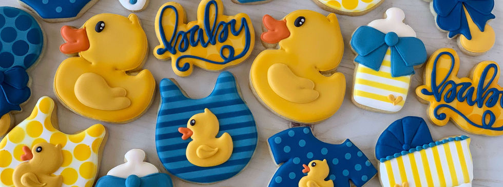 Classic Baby Shower Neutral Gender Cookies | CLASSIC SIZE