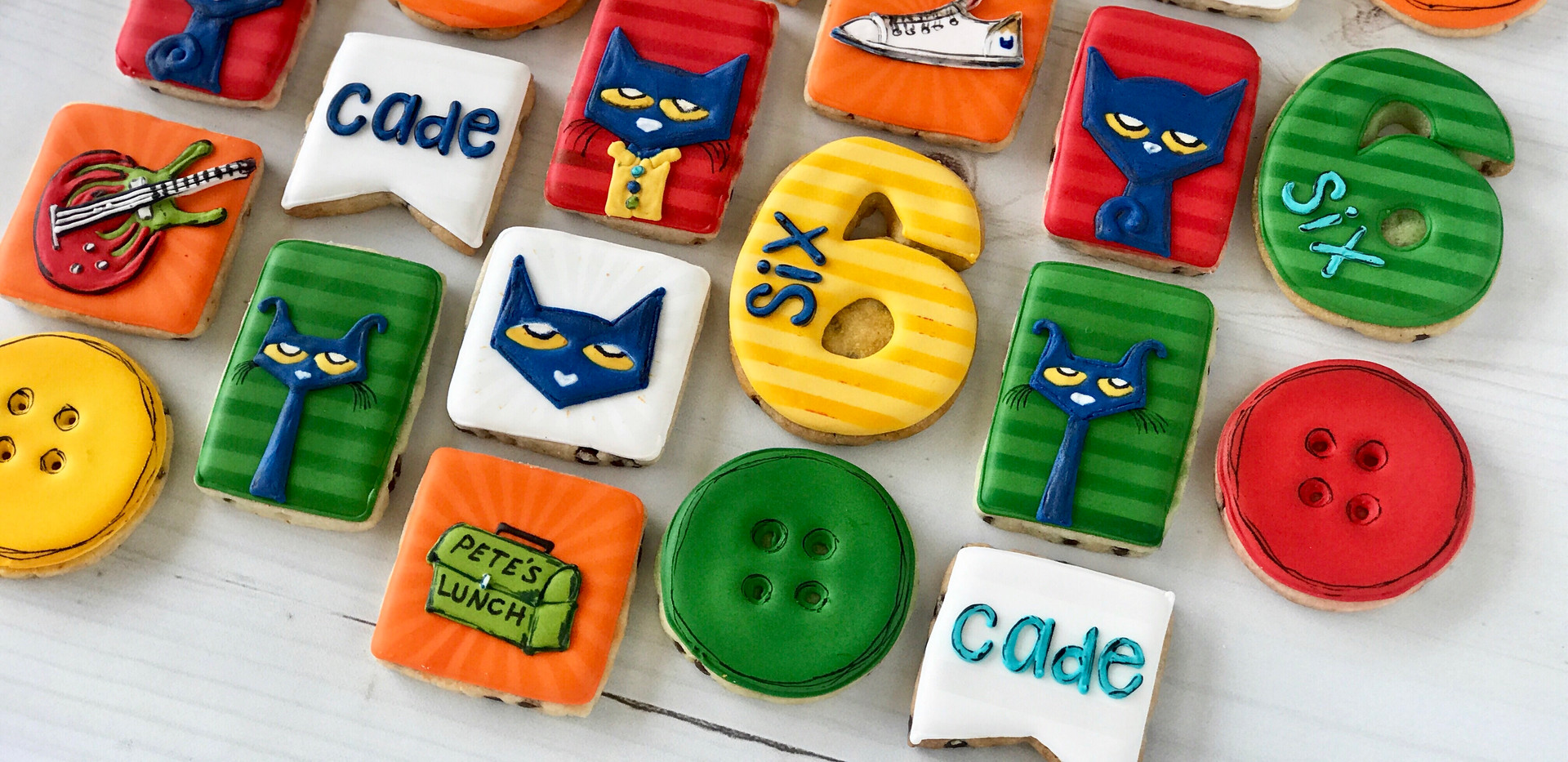 Pete the Cat Birthday Cookies _ Simply R