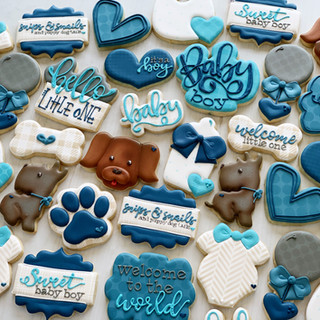 Snips and Tails Baby Boy Cookies | Simply Renee Sweets