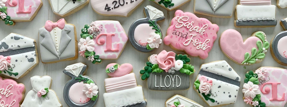 Lloyd Wedding Shower Cookies | SMALL SIZE