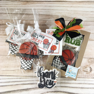 Basketball Cookies Gift Sets | Simply Renee Sweets