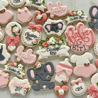Elephant Baby Cookies | Simply Renee Sweets