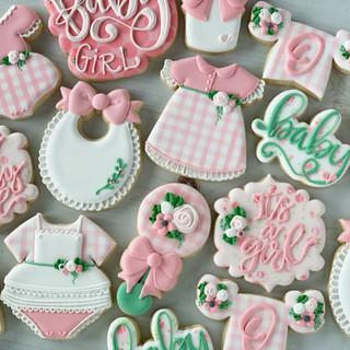 Pink Gingham Baby Cookies | Simply Renee Sweets