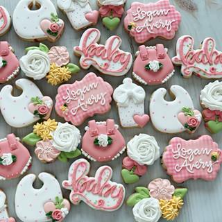 Floral Girl Baby Cookies | Simply Renee Sweets