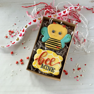 Bee Mine Decorated Cookies
