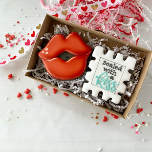 Sealed With a Kiss Decorated Cookies