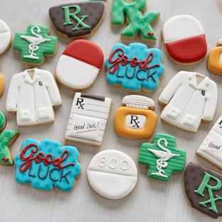 Pharmacy Graduation Cookies   Simply Renee Sweets