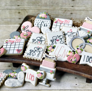 Stick Figure Love Bridal Shower Cookies Cookies | Simply Renee Sweets