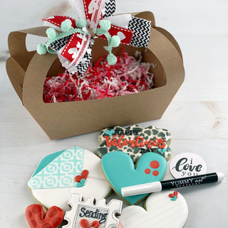 Love Letters Decorated Cookies