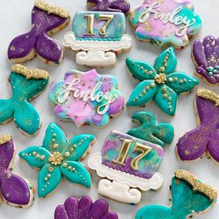 Classy Mermaid Birthday Cookies | Simply Renee Sweets