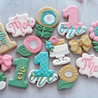 Pastel Florals Birthday Cookies | Simply Renee Sweets