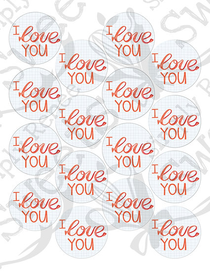I Love You Tag Printable
