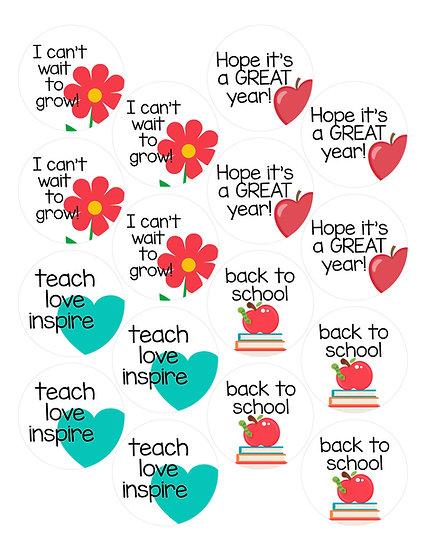 Back to School Printable Tags