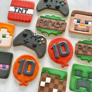 Minecraft Birthday Cookies | Simply Renee Sweets