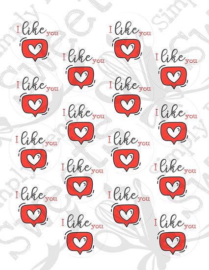 I Like You Tag Printable