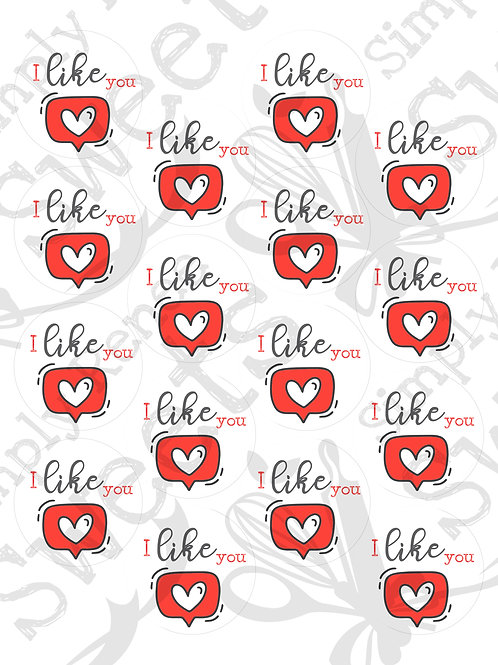 I Like You Tag Printable