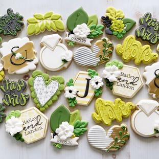 Monogram J Wedding Cookies