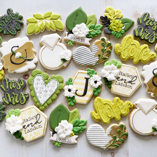 Monogram J Wedding Cookies