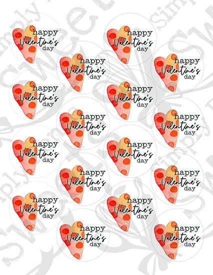 Happy Valentine's Day 2 Tag Printable