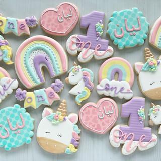 Unicorns & Rainbows Birthday Cookies