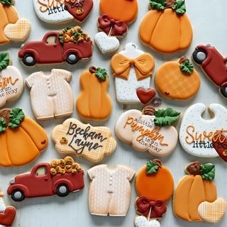Sweet Little Pumpkin Baby Cookies | Simply Renee Sweets