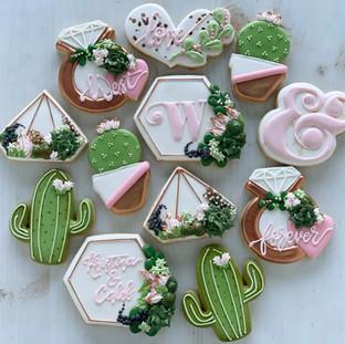 Succulent Wedding Cookies | Simply Renee Sweets