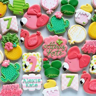 Flamingo Birthday Cookies