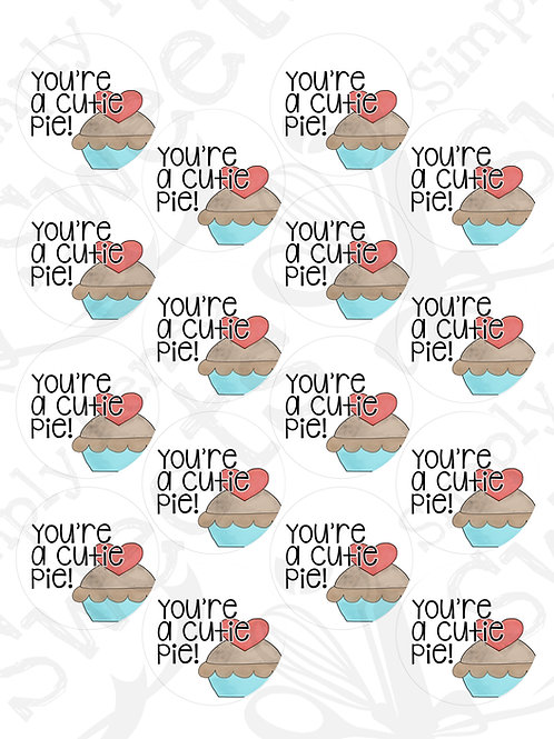 You're A Cutie Pie Tag Printable
