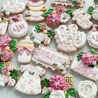 Floral Baby Cookies | Simply Renee Sweets