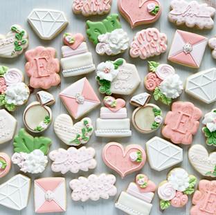 Monogram E Wedding Cookies
